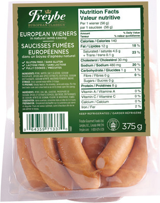 FREYBE EUROPEAN WIENERS
