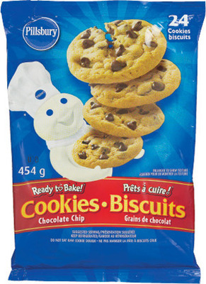 PILLSBURY CINNAMON BUNS OR CHOCOLATE CHIP COOKIE DOUGH