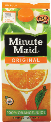 MINUTE MAID ORANGE JUICE OR FIVE ALIVE REFRIGERATED DRINKS