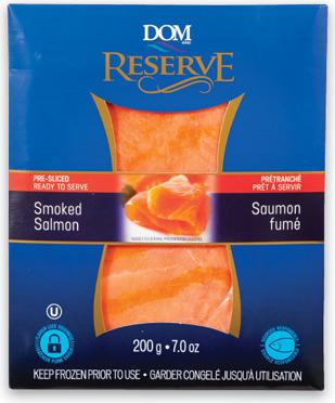 DOM RESERVE SMOKED SALMON OR GRAVLAX SALMON