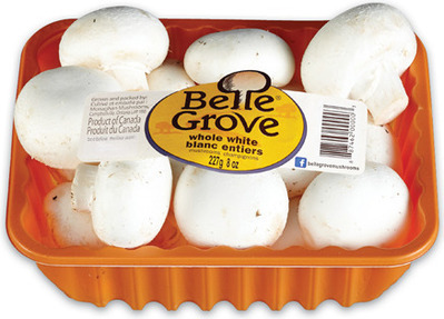 BELLE GROVE WHOLE WHITE OR CRIMINI MUSHROOMS