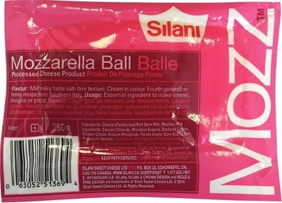 SILANI MOZZARELLA BALL 260 g or RICOTTA CHEESE VACUUM-PACKED, 454 g