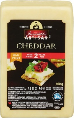 IRRESISTIBLES ARTISAN 2 YEAR AGED OLD WHITE CHEDDAR CHEESE