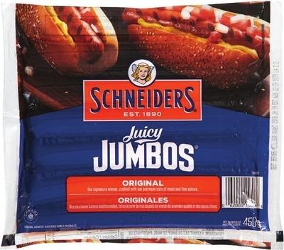 SCHNEIDERS JUICY JUMBOS OR SMOKED SAUSAGE
