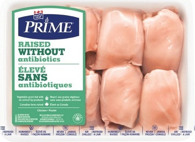 MAPLE LEAF PRIME RAISED WITHOUT ANTIBIOTICS FRESH CHICKEN THIGHS