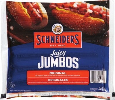 SCHNEIDERS JUICY JUMBOS, GRILL'EMS OR SMOKED SAUSAGES