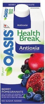 OASIS ORANGE JUICE, HEALTH BREAK OR SMOOTHIES