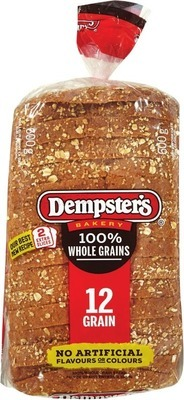 DEMPSTER'S WHOLE GRAIN BREADS OR D'ITALIANO BREAD 600 ‑ 675 g or BUNS PKG of 6 ‑ 8