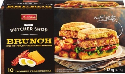 Irresistibles Butcher Shop Frozen Brunch Burgers