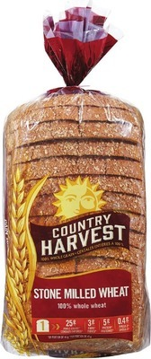 DEMPSTER'S WHITE OR 100% WHOLE WHEAT BREAD, HOT DOG OR HAMBURGER BUNS OR COUNTRY HARVEST GRAIN BREADS