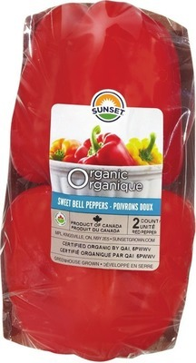 ORGANIC SWEET PEPPERS 2 PK