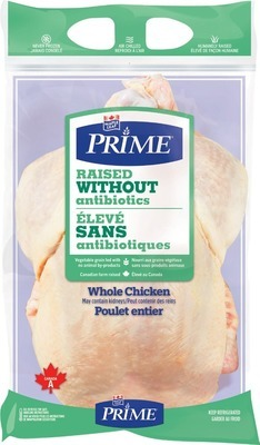 MAPLE LEAF PRIME RAISED WITHOUT ANTIBIOTICS FRESH WHOLE CHICKEN