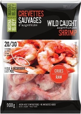 COOKED SHRIMP 26 - 30 SIZE OR MARINA DEL REY WILD ARGENTINIAN RAW SHRIMP 20 - 3O SIZE FROZEN, 908 g