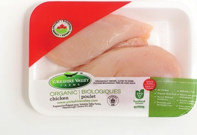 YORKSHIRE VALLEY FARMS ORGANIC FRESH CHICKEN BREAST