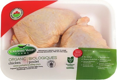 YORKSHIRE VALLEY FARMS ORGANIC FRESH CHICKEN LEG QUARTERS