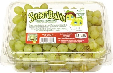 MINI GREEN THOMPSON GRAPES 454 G SWEET BABYDOLLS, RED GRAPES 454 G