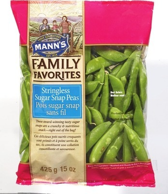 MANN'S SUGAR SNAP PEAS 425 g PRODUCT OF U.S.A. ATTITUDE SALADS 312 g PRODUCT OF CANADA