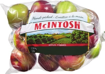 MCINTOSH, PAULA RED OR GINGER GOLD APPLES