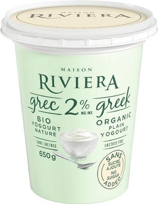 RIVIERA ORGANIC GREEK YOGURT