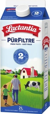 LACTANTIA PURFILTRE MILK 1.5 - 2 L LIBERTÉ GREEK YOGURT 2 x 130 g, 4 x 100 g or POST CEREAL 510 - 725 g