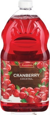 IRRESISTIBLES CRANBERRY JUICE OR COCKTAIL