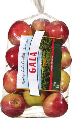 ORGANIC GALA APPLES 3 lb, PRODUCT OF U.S.A., EXTRA FANCY GRADE ORGANIC POTATOES 3 lb, PRODUCT OF U.S.A., No. 1 GRADE ORGANIC ATTITUDE SALADS 142 g, PRODUCT OF U.S.A.