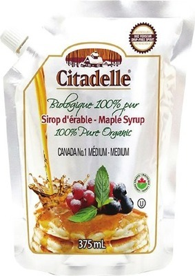 CITADELLE OR SHADY MAPLE ORGANIC SYRUP