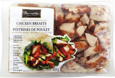 SIMPLY POULTRY COOKED CHICKEN BREAST SLICES