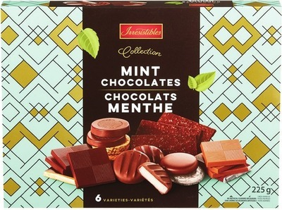 IRRESISTIBLES COLLECTION MINT CHOCOLATES 225 G OR BELGIAN CHOCOLATES 218 G