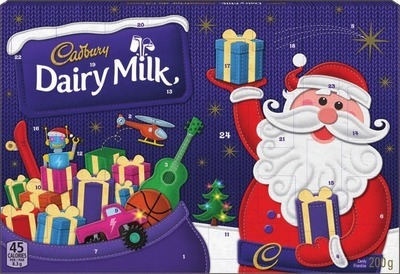 CADBURY DAIRY MILK SANTA ADVENT CALENDAR