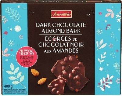 IRRESISTIBLES DARK CHOCOLATE ALMOND BARK