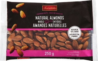 IRRESISTIBLES WALNUT HALVES & PIECES 250 g WHOLE NATURAL ALMONDS 250