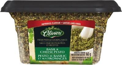 OLIVIERI PASTA SAUCE 300 ml BASIL PESTO 160 g