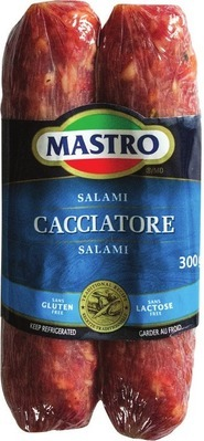 MASTRO CACCIATORE SALAMI SELECTED VARIETIES OR TRE STELLE ROMANO, GRANA PADANO OR PARMIGIANO CHEESE 200 - 300 g