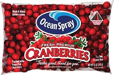 CRANBERRIES 340 g PRODUCT OF U.S.A. LIMES 1 lb PRODUCT OF MEXICO