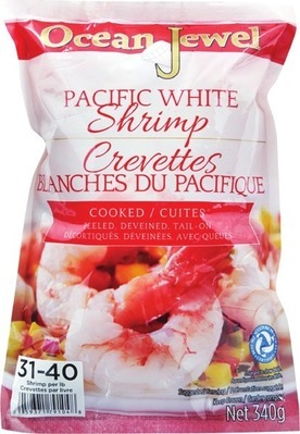 LARGE COOKED OR RAW SHRIMP 31/40 SIZE, 340 g OR ROCK LOBSTER TAIL 4 OZ.