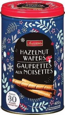 IRRESISTIBLES HAZELNUT WAFER COOKIES