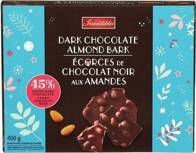 IRRESISTIBLES DARK CHOCOLATE ALMOND BARK