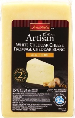 IRRESISTIBLES ARTISAN 2 YEAR WHITE CHEDDAR CHEESE