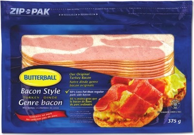 BUTTERBALL TURKEY BACON OR TURKEY FRANKS