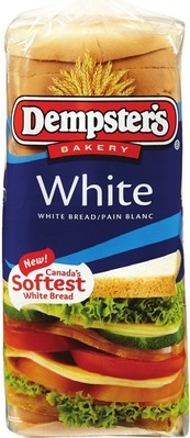 DEMPSTER'S GRAIN BREADS, WHITE OR 100% WHOLE WHEAT OR RYE BREADS