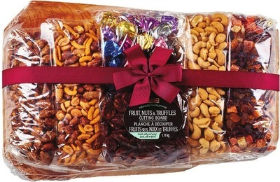 IRRESISTIBLES CUTTING BOARD WITH DRIED FRUITS, NUTS & TRUFFLES