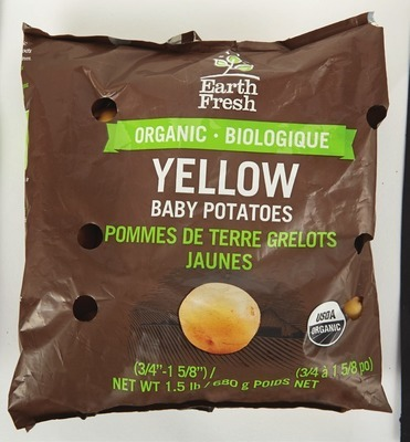 EARTH FRESH ORGANIC BABY POTATOES