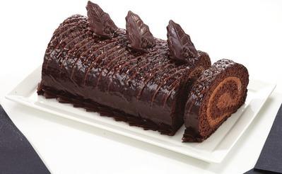 SWISS MILK CHOCOLATE LOG CAKE