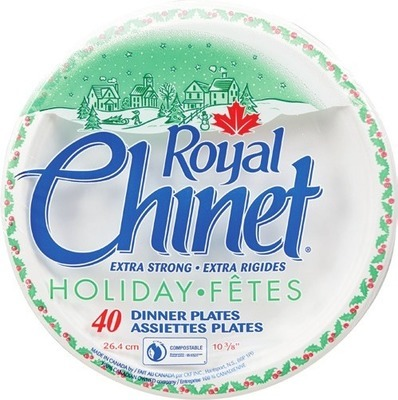 ROYAL CHINET HOLIDAY PLATES