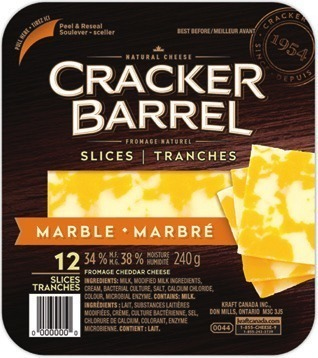 Cracker Barrel Cheese Slices, Feta Or Snacks