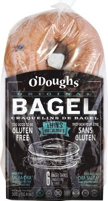 O'DOUGHS GLUTEN FREE BAGELS