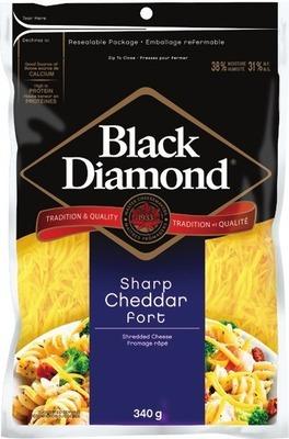 BLACK DIAMOND CHEESE BARS OR SHREDDED CHEESE