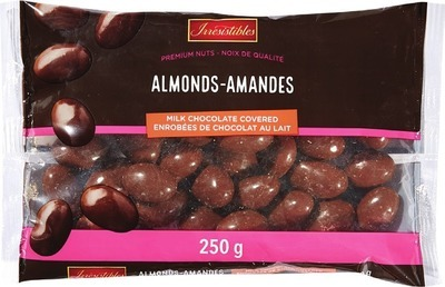 IRRESISTIBLES MILK CHOCOLATE COVERED ALMONDS 250 G