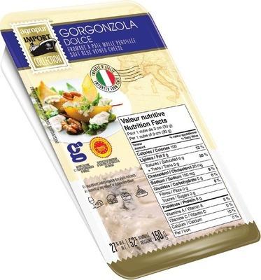 AGROPUR IMPORT COLLECTION GORGONZOLA OR GRANAROLO DOLCE GORGONZOLA CHEESE